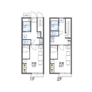 1K Apartment in Nonakaminami - Osaka-shi Yodogawa-ku Floorplan
