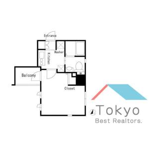 1K Mansion in Sotokanda - Chiyoda-ku Floorplan