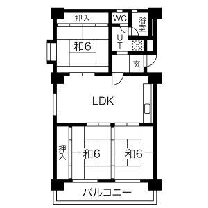 3LDK Mansion in Higashisakura - Nagoya-shi Higashi-ku Floorplan