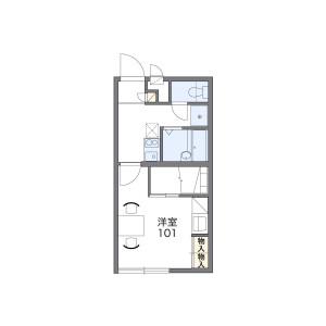 1K Apartment in Kumodecho - Nagahama-shi Floorplan