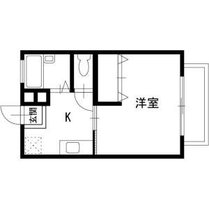 1K Apartment in Hanazono - Chiba-shi Hanamigawa-ku Floorplan