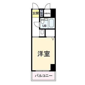 1R {building type} in Yoshino - Osaka-shi Fukushima-ku Floorplan