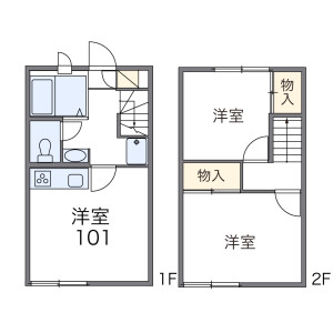 2DK Apartment in Masuo - Kashiwa-shi Floorplan