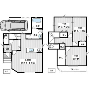 3LDK {building type} in Higashikatasoecho - Kawachinagano-shi Floorplan