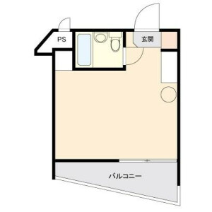 1R Mansion in Kitakarasuyama - Setagaya-ku Floorplan