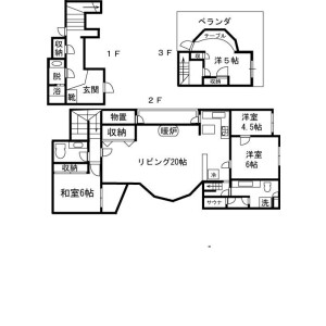 4LDK Mansion in Toyotamakita - Nerima-ku Floorplan