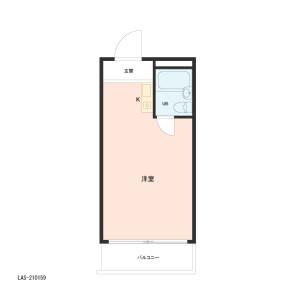 1R {building type} in Shimotakaido - Suginami-ku Floorplan
