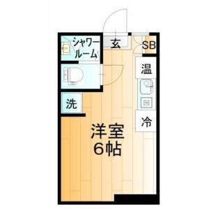 1R Mansion in Omorihoncho - Ota-ku Floorplan