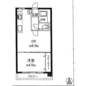 1DK {building type} in Takanawa - Minato-ku Floorplan