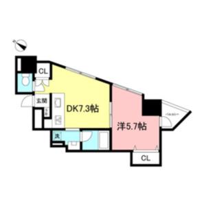 澀谷區神山町-1DK公寓大廈 房間格局