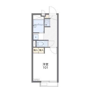 1K Apartment in Kaijin - Funabashi-shi Floorplan