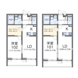 1LDK Mansion in Shibasaki - Chofu-shi Floorplan