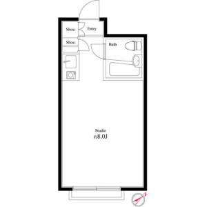 1R Mansion in Ichikawaminami - Ichikawa-shi Floorplan
