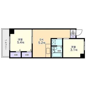 2DK Mansion in Higashioi - Shinagawa-ku Floorplan