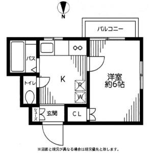1K Apartment in Sakurashimmachi - Setagaya-ku Floorplan