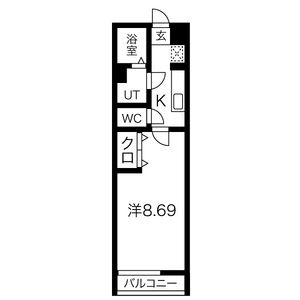 1K Apartment in Nonami - Nagoya-shi Tempaku-ku Floorplan