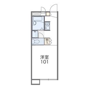 1K Apartment in Minamioyumicho - Chiba-shi Chuo-ku Floorplan