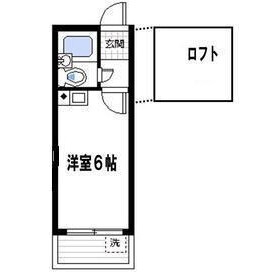1R 아파트 in Namiki - Kawaguchi-shi Floorplan