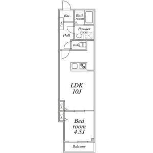 1LDK Mansion in Shitaya - Taito-ku Floorplan