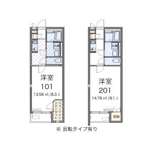 1K Apartment in Kairaku - Urayasu-shi Floorplan