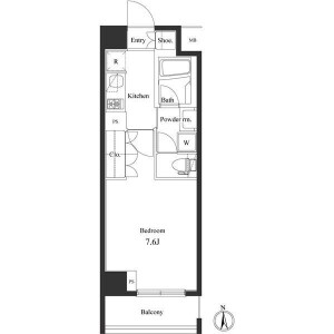 1K Mansion in Higashinippori - Arakawa-ku Floorplan