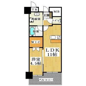 1LDK Mansion in Wakakusacho - Ibaraki-shi Floorplan