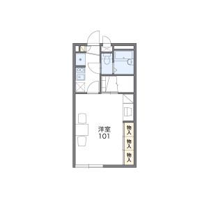 川越市木野目-1K公寓 楼层布局