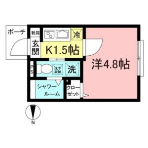 1K Apartment in Jiyugaoka - Meguro-ku Floorplan