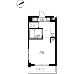 1K 맨션 in Nishishinjuku - Shinjuku-ku Floorplan