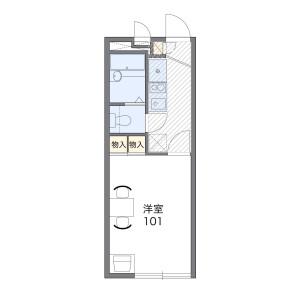 1K Mansion in Shimosakabe - Amagasaki-shi Floorplan