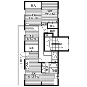 3LDK Mansion in Shunko 7-jo - Asahikawa-shi Floorplan
