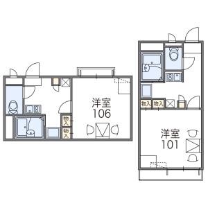 1K Apartment in Honancho nishi - Toyonaka-shi Floorplan