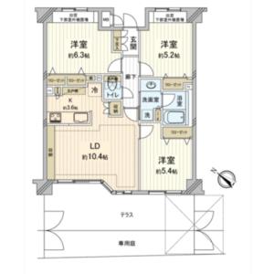 3LDK {building type} in Narimasu - Itabashi-ku Floorplan