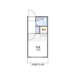 目黒區柿の木坂-1K公寓 房間格局