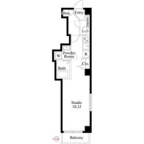 1R Mansion in Shinohashi - Koto-ku Floorplan
