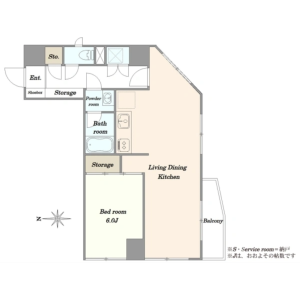 1LDK {building type} in Shimomeguro - Meguro-ku Floorplan