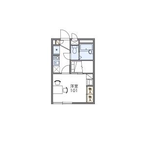 1K Apartment in Kuriharachuo - Zama-shi Floorplan