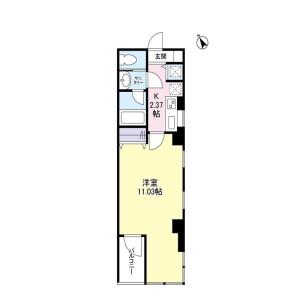 1K Mansion in Toranomon - Minato-ku Floorplan