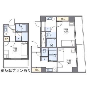 1K Mansion in Yokoyamacho - Hachioji-shi Floorplan