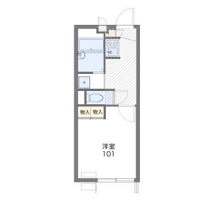 1K 아파트 in Senzoku - Meguro-ku Floorplan
