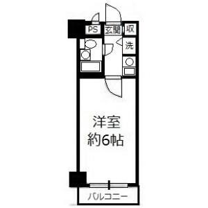 1R Mansion in Minowa - Taito-ku Floorplan