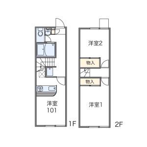 2DK Apartment in Meiwa - Neyagawa-shi Floorplan