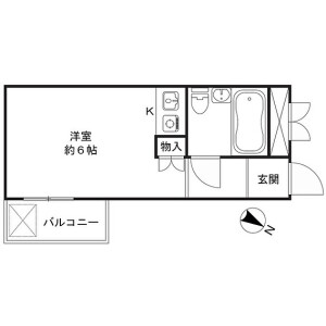 新宿区 市谷砂土原町 1R {building type} 間取り