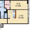 1LDK Apartment to Rent in Takatsuki-shi Floorplan