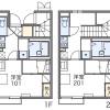 在世田谷区内租赁1K 公寓 的 楼层布局