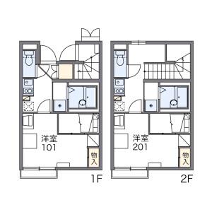 世田谷区粕谷-1K公寓 楼层布局