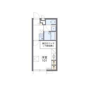 堺市美原区南余部-1K公寓 楼层布局