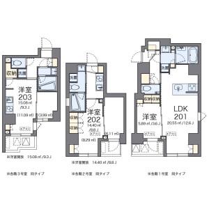 1K Mansion in Shintomi - Chuo-ku Floorplan