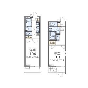 1K Mansion in Minamihatsushimacho - Amagasaki-shi Floorplan