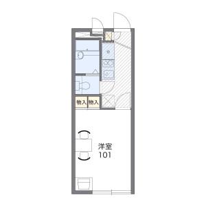 春日部市備後東-1K公寓 房間格局